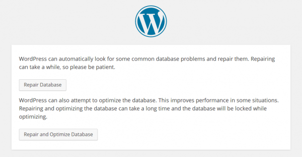 Using wp_allow_repair to repair your WordPress database.