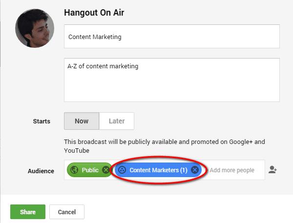 Invite a Google+ Community To Hangouts