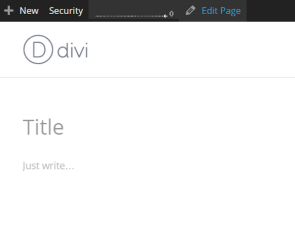 A Look At The Upcoming WordPress Front-End Editor - Creating a New Page