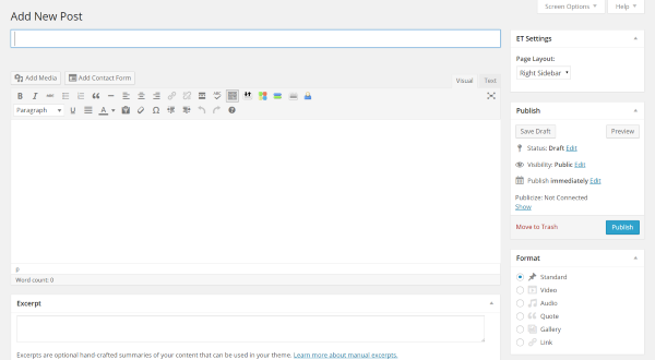 A Look At The Upcoming WordPress Front-End Editor - Current Visual Editor