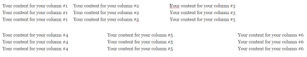 How To Create Column Layouts In WordPress - six columns