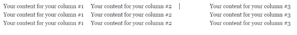 How To Create Column Layouts In WordPress - three columns