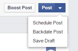 How To Post To Facebook From WordPress - Facebook's Scheduler