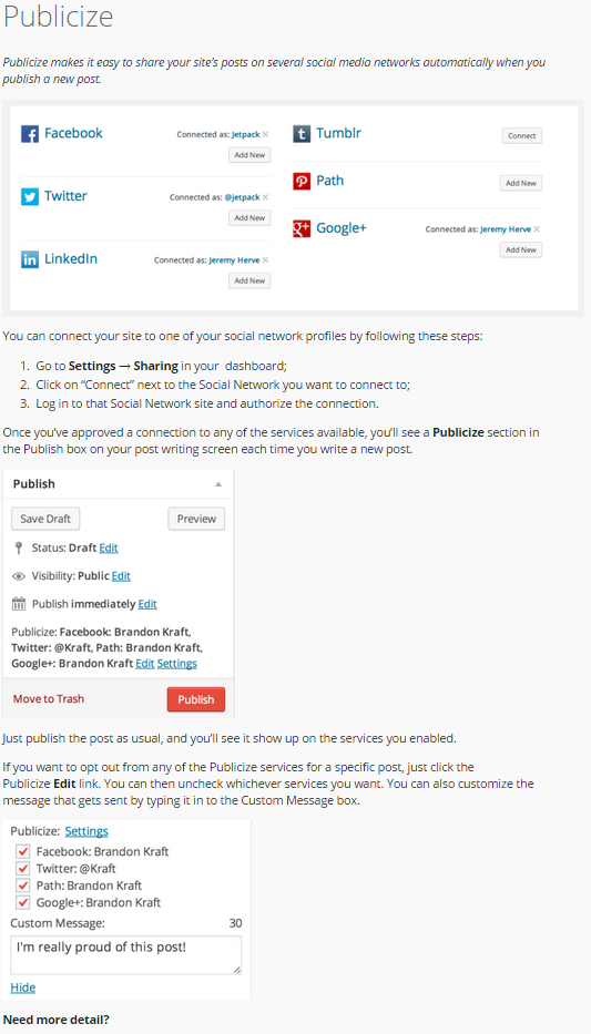 How To Post To Facebook From WordPress - Publicize