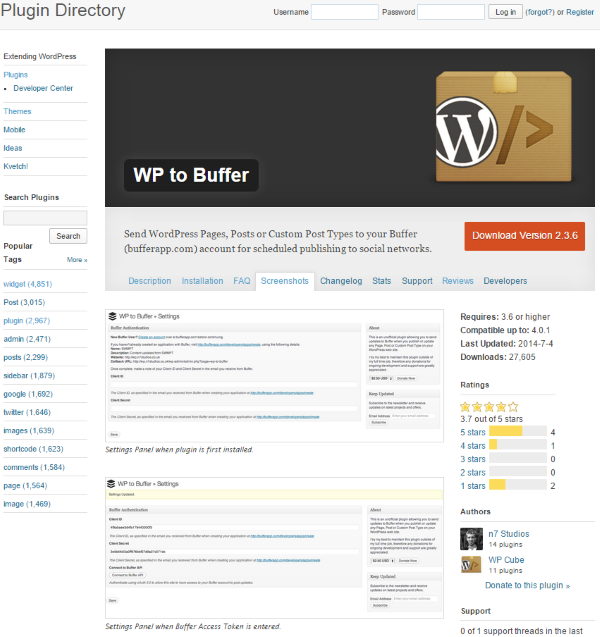 How To Post To Facebook From WordPress - Using a Buffer Plugin – WP to Buffer