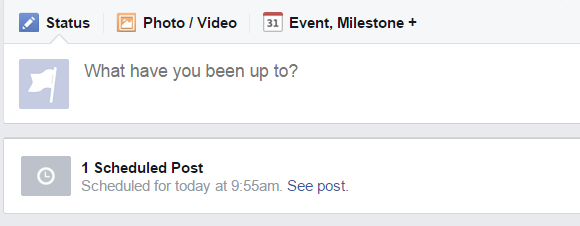 How To Post To Facebook From WordPress - date and time