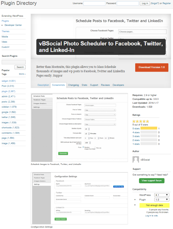 How To Post To Facebook From WordPress - vBSocial Photo Scheduler