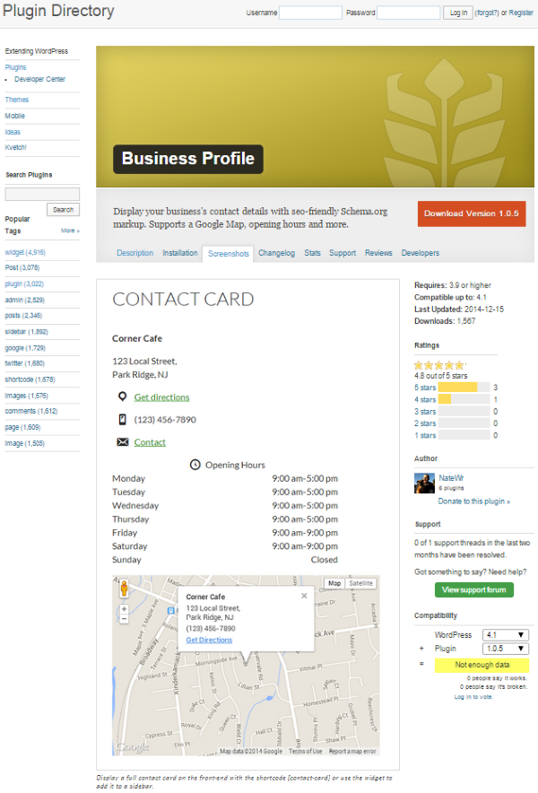 How to Build a Restaurant Website with WordPress - Business Profile