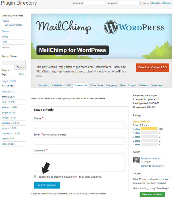 How to Build a Restaurant Website with WordPress - MailChimp for WordPress