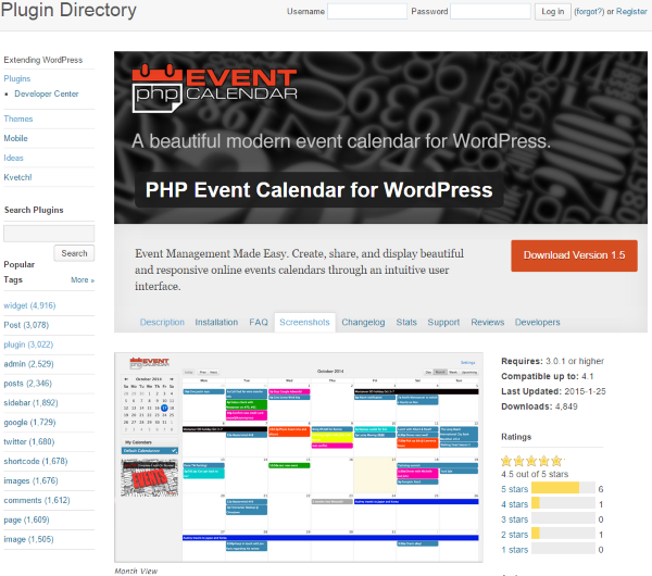 How to Build a Restaurant Website with WordPress - PHP Event Calendar for WordPress