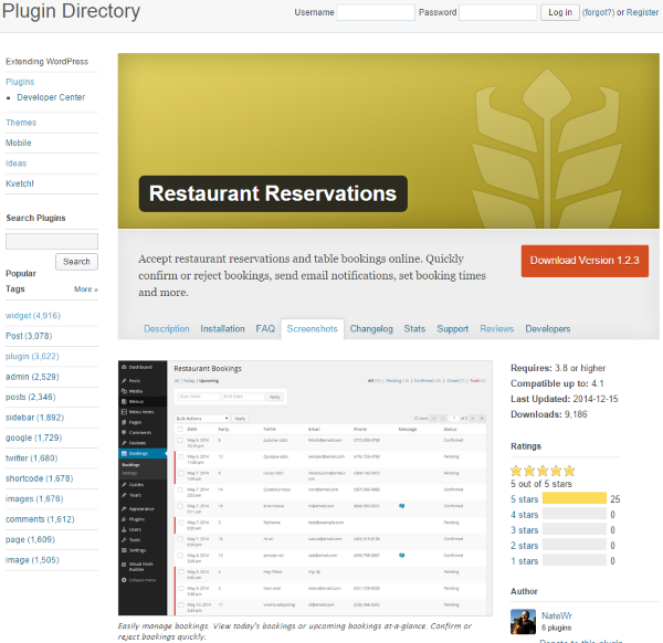 How to Build a Restaurant Website with WordPress - Restaurant Reservations