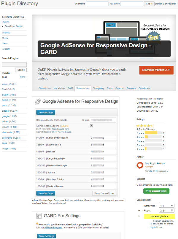 How to Monetize Your WordPress Site Using Adsense - Google AdSense for Responsive Design - GARD