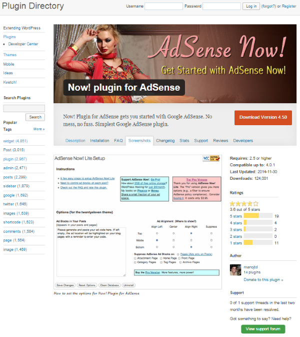 How to Monetize Your WordPress Site Using Adsense - Now! Plugin for AdSense