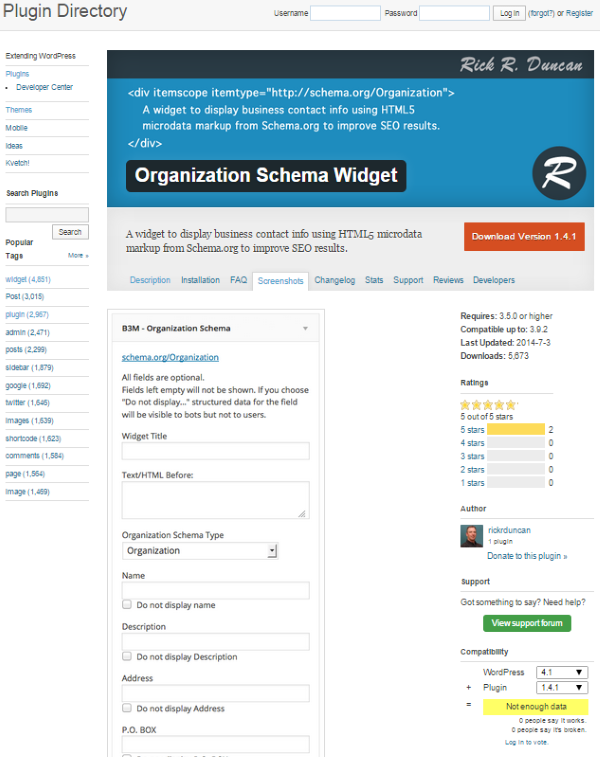 How to Optimize Your WordPress Site for Local Search - Organization Schema Widget