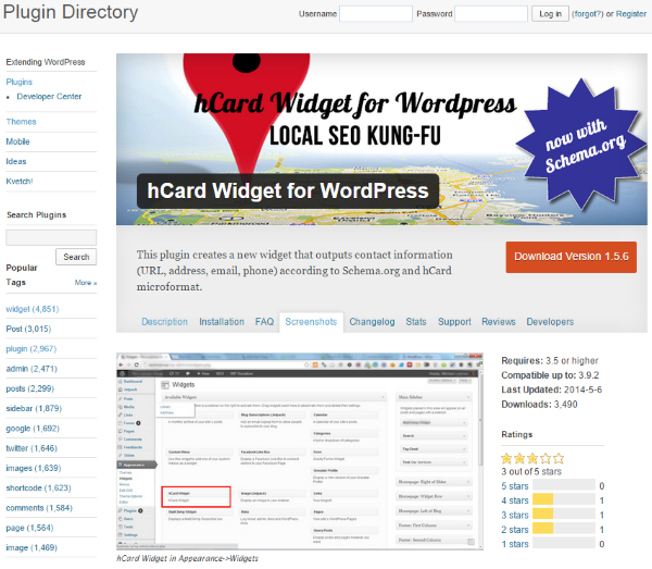 How to Optimize Your WordPress Site for Local Search - hCard Widget for WordPress