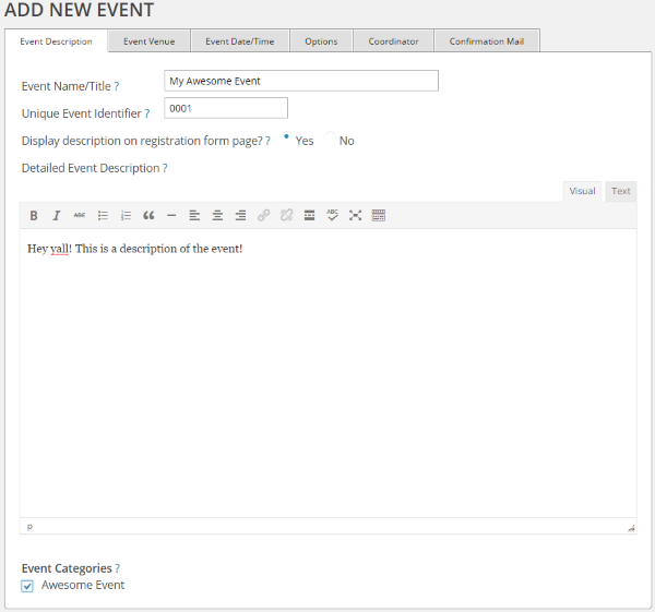 How to Set Up WordPress Event Registration - Event Registration 2