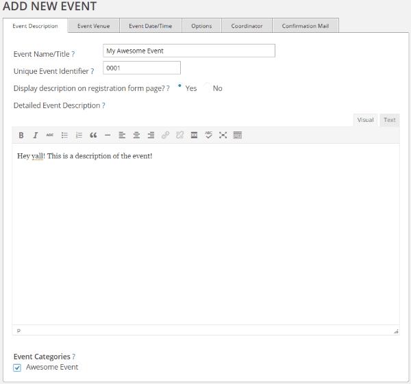 How to Set Up WordPress Event Registration - Event Registration 2