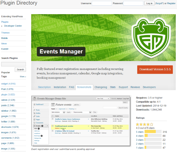 advanced events registration pro free