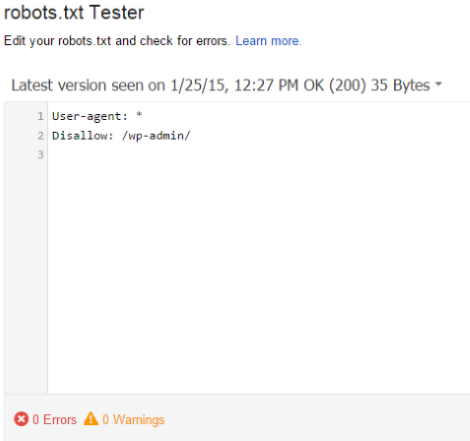 How to Use Google Webmaster Tools to Improve Your Website - Robots.txt Tester