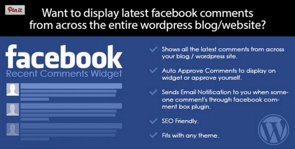 Facebook Recent Comments Widget for WordPress plugin