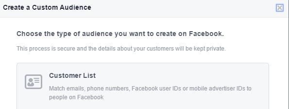 Custom Audience on Facebook