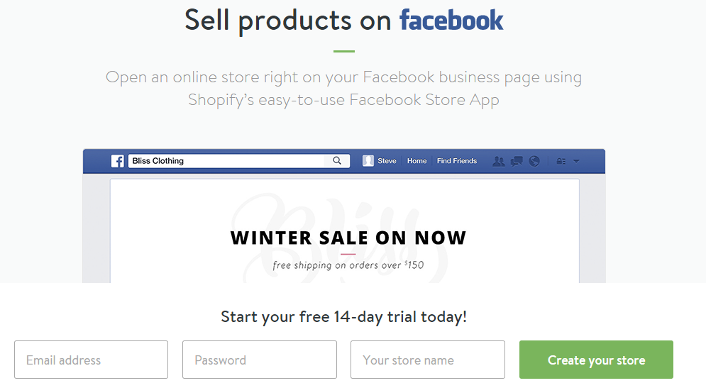 Facebook ads redirect to a dedicated landing page