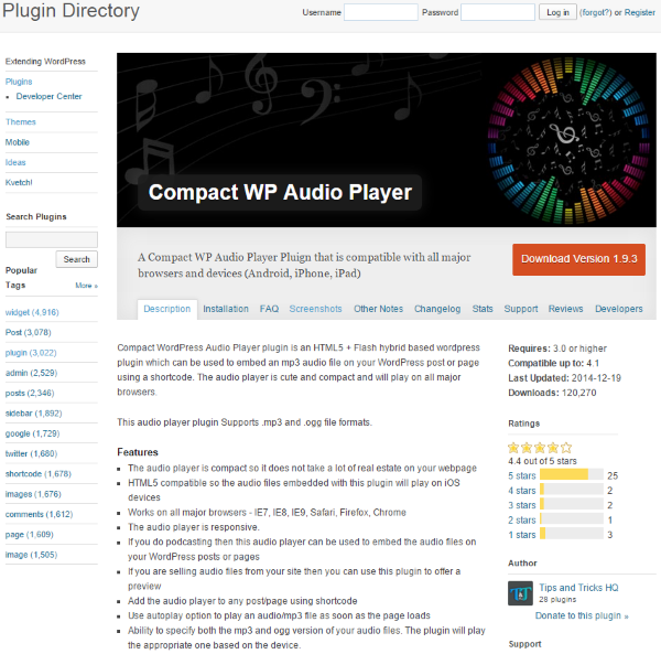 7 Creative Ways to Take Advantage of Your WordPress Site's Footer - Compact WP Audio Player