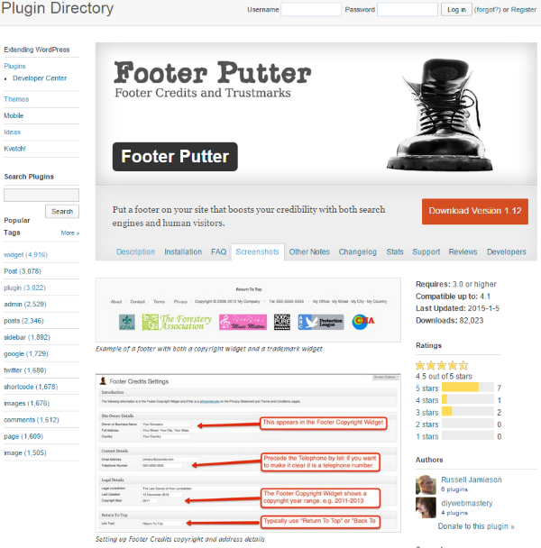 7 Creative Ways to Take Advantage of Your WordPress Site's Footer - Footer Putter