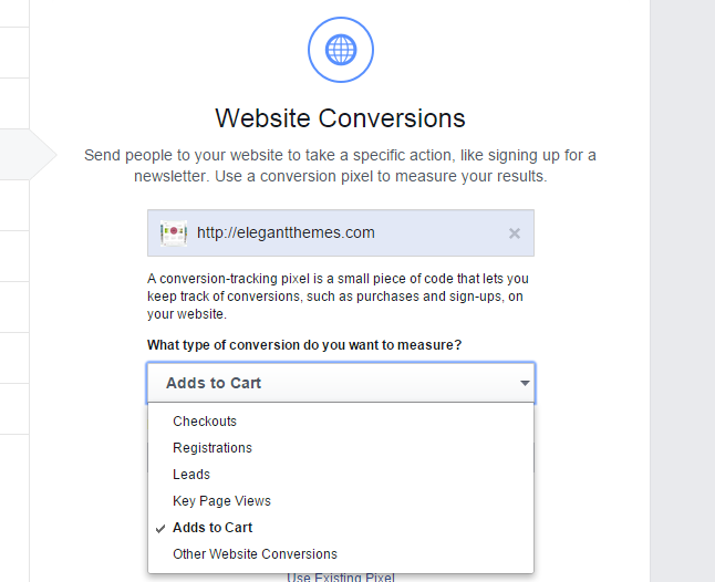 Website conversion actions oCPM