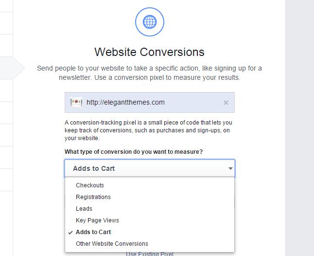 Website conversion actions oCPM