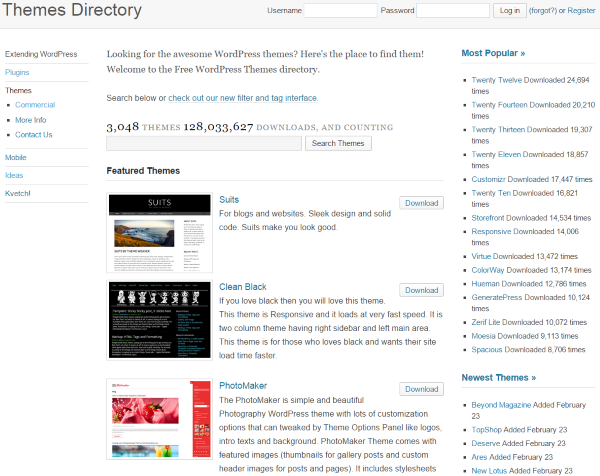 Everything You Need to Know About Changing WordPress Themes - themes directory