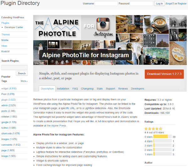 Four Ways to Better Integrate Instagram Into Your WordPress Site - Alpine PhotoTile for Instagram