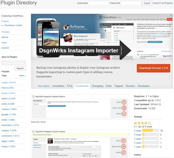 Four Ways to Better Integrate Instagram Into Your WordPress Site - DsgnWrks Instagram Importer