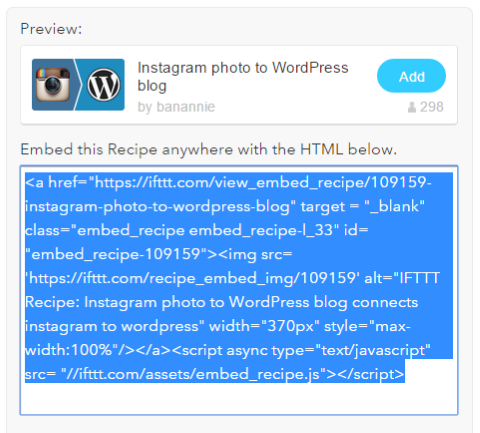 Four Ways to Better Integrate Instagram Into Your WordPress Site - IFTTT 3