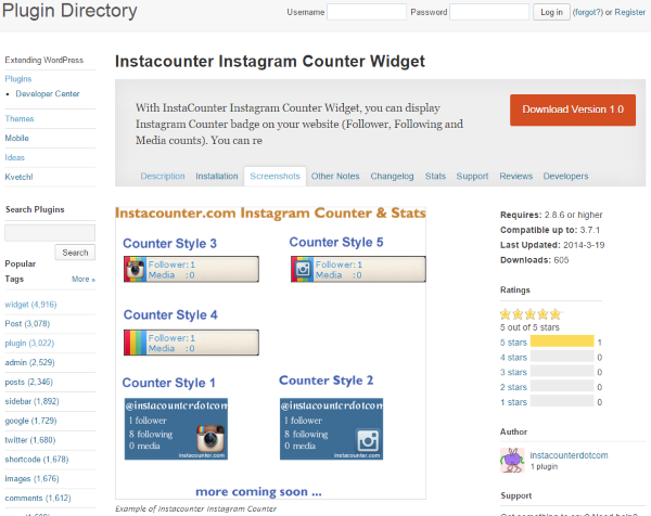 Four Ways to Better Integrate Instagram Into Your WordPress Site - Instacounter Instagram Counter Widget
