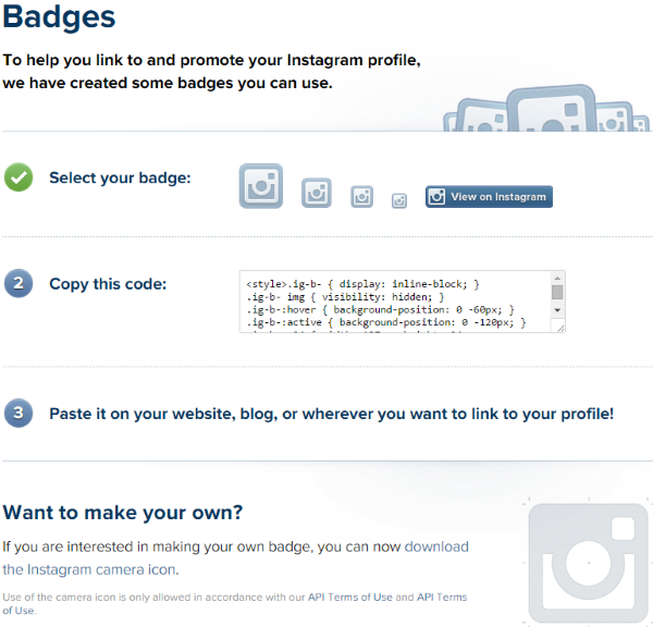 Four Ways to Better Integrate Instagram Into Your WordPress Site - Instagram Badges