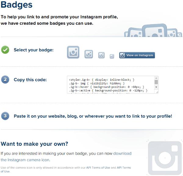 How to add instagram link to wordpress website