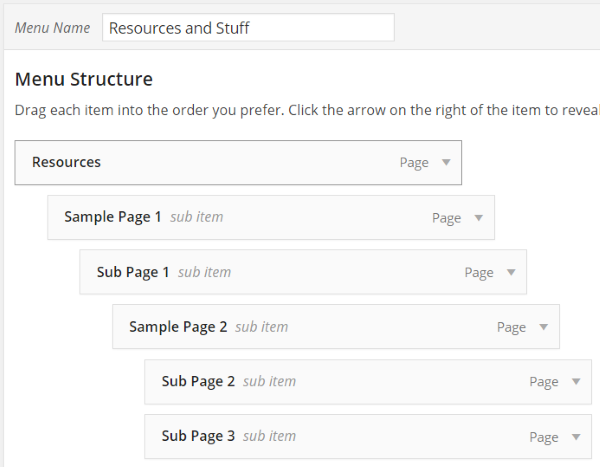How to Create Custom Menu Structures in WordPress - Handling Sub Pages