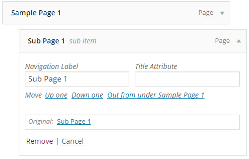 How to Create Custom Menu Structures in WordPress - Renaming the Navigation Labels