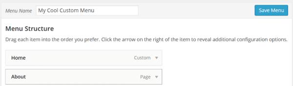 How to Create Custom Menu Structures in WordPress - Save Menu