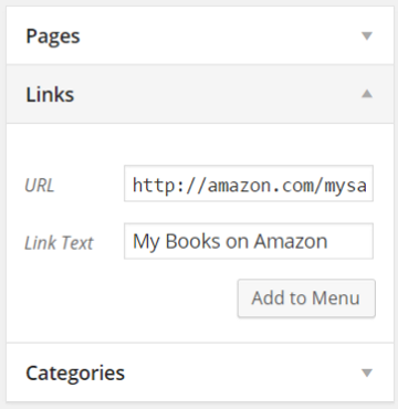 How to Create Custom Menu Structures in WordPress - Using Links