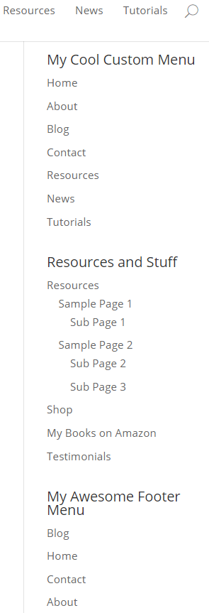 How to Create Custom Menu Structures in WordPress - Using the Custom Menu Widget 2