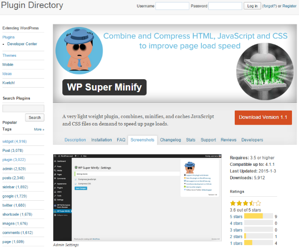 How to Minify Your Websites CSS, HTML & Javascript - WP Super Minify