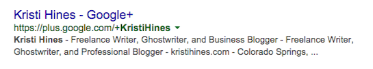 Examples of Google Profiles in SERPs