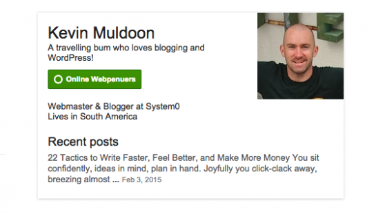 Google Plus Profiles show up in SERPS