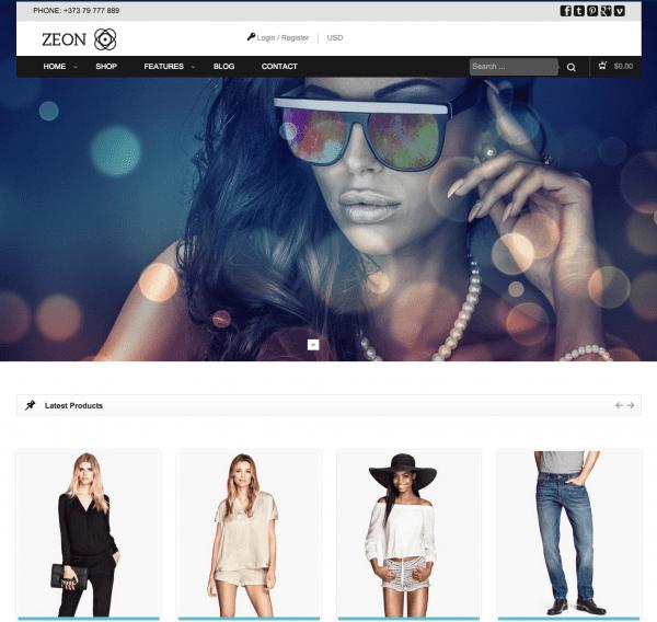 Zeon WooCommerce Theme by TeslaThemes