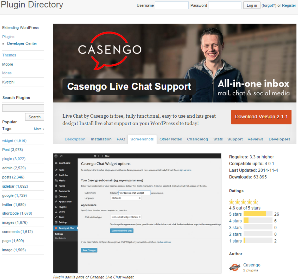 The Best WordPress Plugins for Improving Your Customer Service - Casengo Live Chat Support