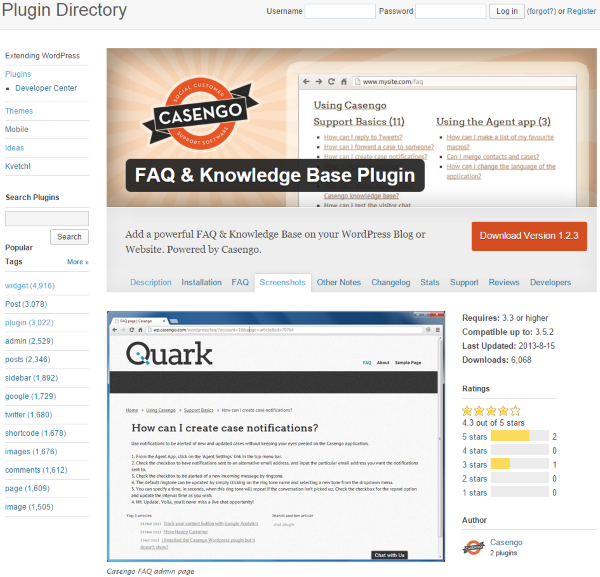 The Best WordPress Plugins for Improving Your Customer Service - FAQ & Knowledge Base Plugin