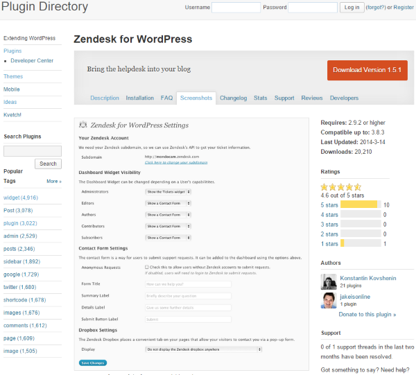 The Best WordPress Plugins for Improving Your Customer Service - Zendesk for WordPress