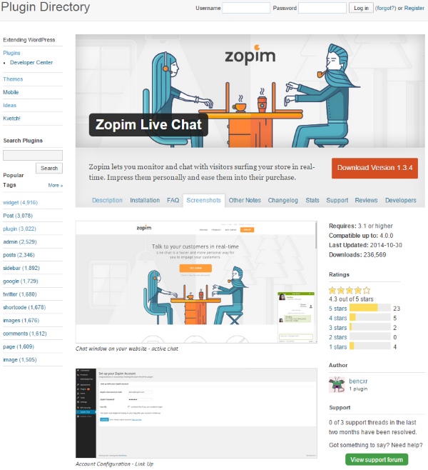 The Best WordPress Plugins for Improving Your Customer Service - Zopim Live Chat